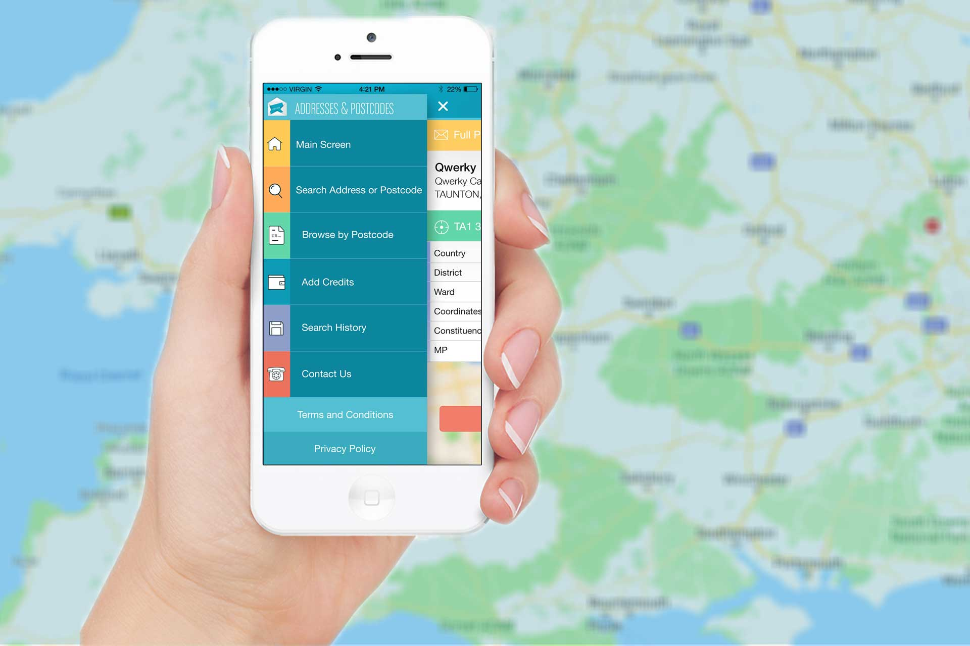 UK Postcode Lookup App