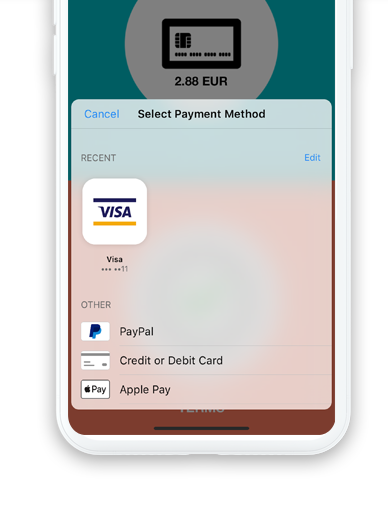 Built in payments processing